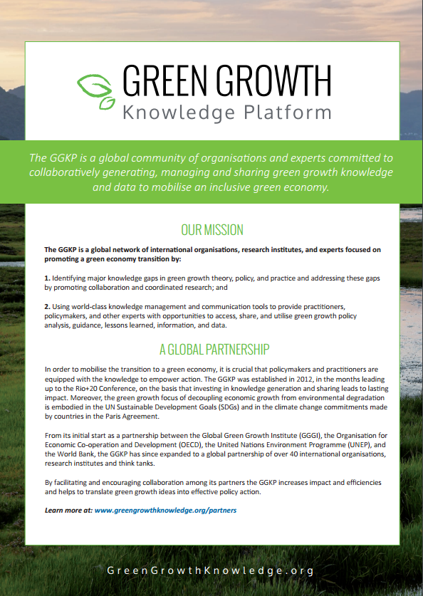 About Us | Green Growth Knowledge Platform