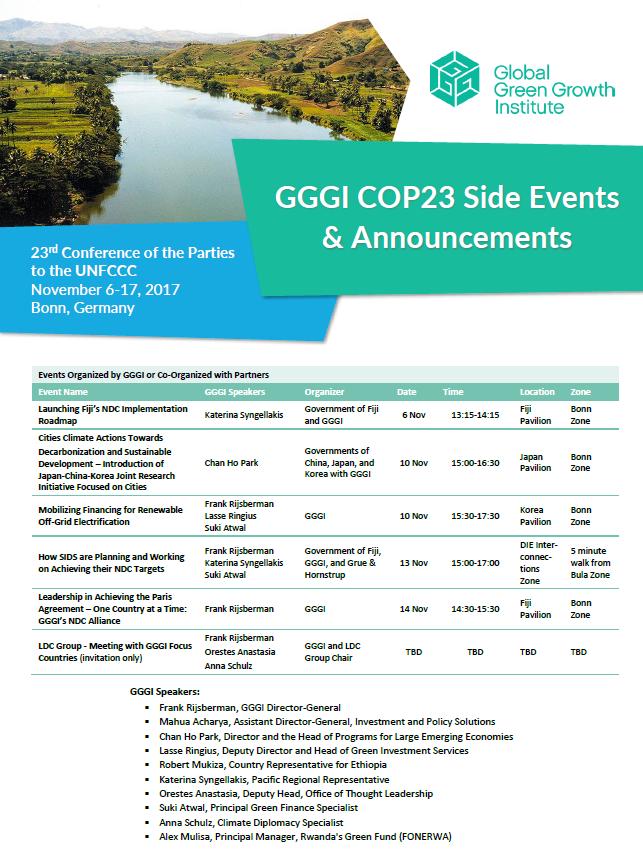 GGGI at COP23
